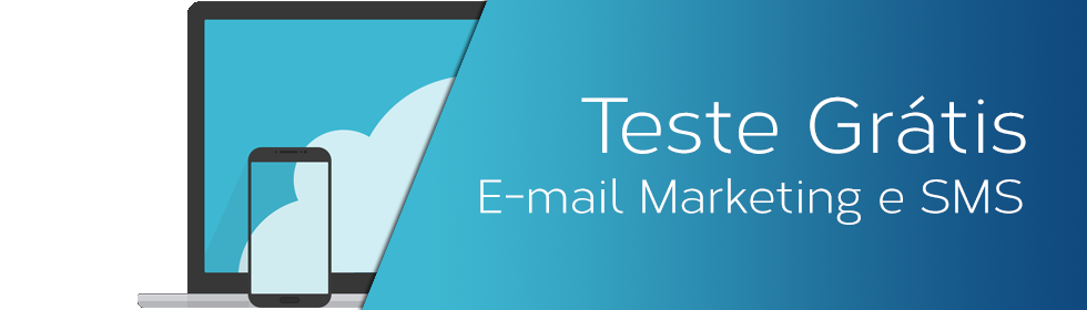 Banner Home Teste Email Marketing e SMS